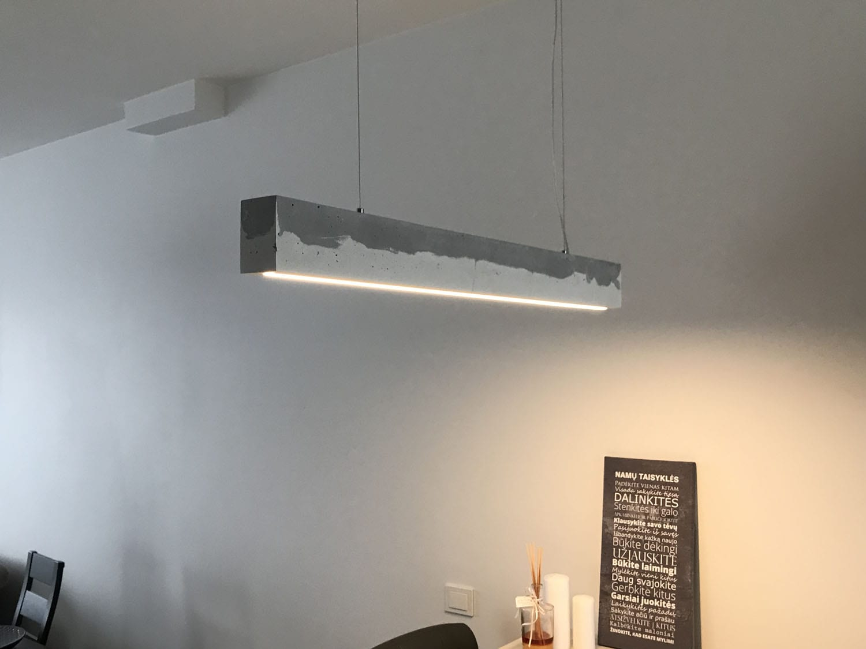 betoninis šviestuvas