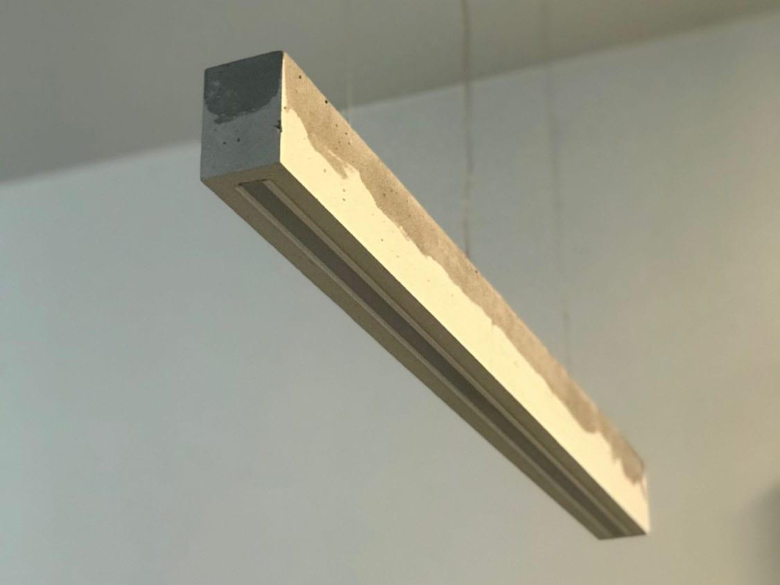 betoninis led šviestuvas
