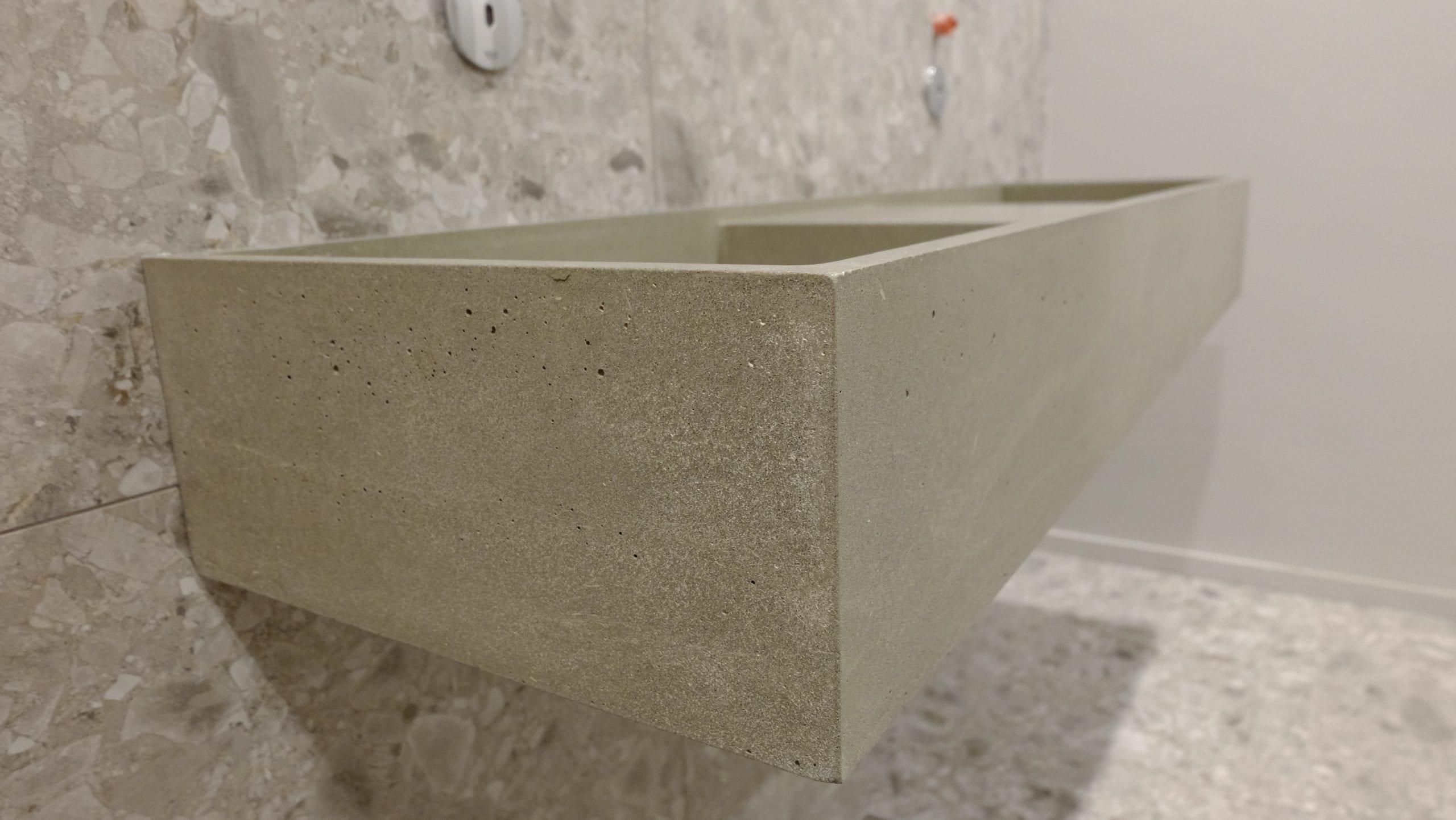 Poliruoto betono plautuvė